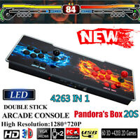 60 3D+4203 2D Games in 1 Pandora's Box 20S Video Game Control Arcade Consoles UK