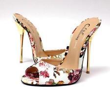 Womens Faux Leather Open Toe 13cm Heel Stiletto Party Ladies Slipper Shoe Sandal