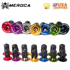 2PCS MTB Bike Handlebar End Plugs Handlebar Caps Aluminum Handle Bar End 22-24mm