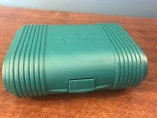 Vintage Sassaby Little Traveler Case Model 110 Mirror Green Purse Size New NOS