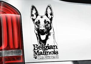 BELGIAN MALINOIS Sticker, Dog Window Decal Car Stickers Gift Bumper Sign -V10BLK