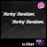 2x Motor Harley Davidson 295x41mm Vinyl Sticker Decal Window Car Motorbike
