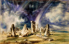 Stonehenge John Constable Säulen Steine England Gräber Denkmäler B A3 02609