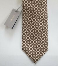 NWT Authentic TOM FORD Brown-Orange with White Dots 100% SILK Tie