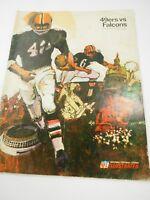 NFL Illustrated San Francisco 49ers vs Falcons Program September 24,1967