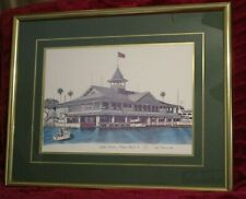 Ted Crane 29 x 24 Balboa Pavilion Signed, Framed and Matted Lithograph