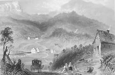 CANADA Eatsern Townships Pass of Bolton - Steel Engraving Print