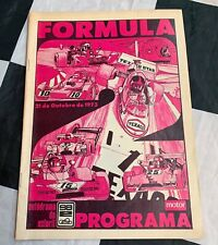 1973 ESTORIL GP F2 FORMULA 2 RACE PROGRAMME JARIER COULON STOMMELEN MARCH 732