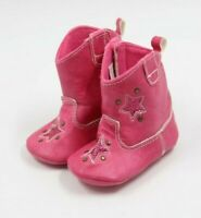 Rising Star Baby Girls Pink Soft Sole Ankle Boots Size 9-12 Months