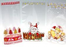 Folienbeutel X-Mas mit Boden, 8 er Pack, 14,5 x 23,5cm Cellophan Plätzchentüten