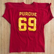 Vtg 60s - 70s Purdue University #69 Football Jersey T-Shirt Men Sz M 100% Cotton