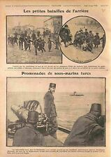 Kids Salonique Thessaloniki Greece Grèce/ Submarine Turkey Dardanelles WWI 1916