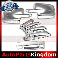 09-16 Dodge RAM Truck Chrome Mirror+4 Door Handle+Tailgate+Key+Camera hole Cover