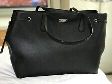 KATE SPADE Ari Laurel Way Black Saffiano Leather Shoulder Bag Tote - X-Large