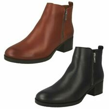 Ladies Clarks Ankle Boots - Mila Sky