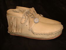 Buffalo Men's Size 11 Pawnee Smoke Color Moccasins Western indian Bison Leather