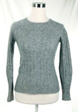 EUC Banana Republic 58% Wool 14% Alpaca Heavy Gray Stretch Sweater Women Size XS