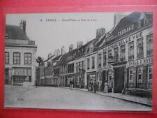 CASSEL  :  L'Hôtel du Sauvage sur la Grand'Place  -  La Rue de Lille.