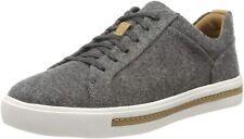 Clarks Ladies Sneakers Shoes UN MAUI LACE Grey Textile UK 5.5 / 39