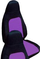 Fits 01-06 Mazda Miata  front set car seat covers  black and purple