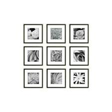 Gallery Perfect 14FW1018 Square Photo Frames 8x8in. 9 Pieces - Black