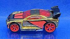POWER RAGE  #161 2007 HOT WHEELS MYSTERY CAR #05 GOLD CHROME RARE RED CM6 WHEELS