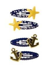 Gymboree Cape Cod Cutie Anchor Star Fish Barrette Clip Set New 4 5 6 7 8 10 2014