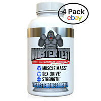 Angry Supplements Testosterone Booster Monster Test 4-Pack of 120 ct with Zinc