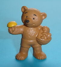 FIGURINE PETIT OURS PETIT OURS CUEILLE DES CHAMPIGNONS BULLY 1983 W.G. NEUF