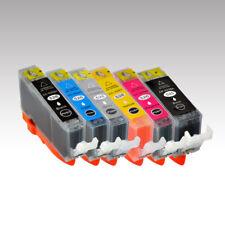 6x Tinte passend CANON Pixma MG5350 / MG6120 / MG6150 / MG6250 / MG8120 / MG8150