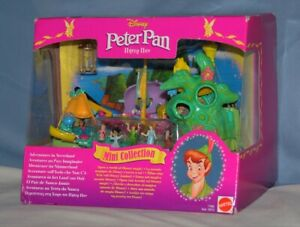 Peter Pan Polly Pocket Adventures In Neverland NRFB Complete Disney Creased Box