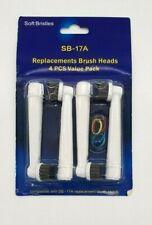 Cepillo de dientes eléctrico Cabezales para oral-B SB-17A Recambio Cepillo de Limpieza Cabeza x4