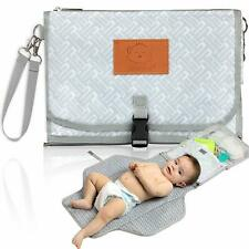 Portable Baby Diaper Changing Pad - Travel Diaper Change Pads -Waterproof (Gray)