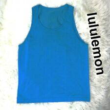 Lululemon Metal Vent Work-Out Yoga Casual Muscle Tank Top Blue Men's Size M