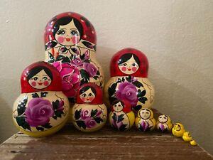 Russian Nesting Dolls MATRESHKA Traditional Style! 10 pcs! Beautiful Set