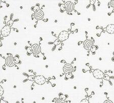 drap housse litbébé 60 x 120 piqué de coton imprimé dessins lapins et oursons