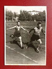 VINTAGE SOVIET PHOTO 1950's USSR URSS STADIUM SPORT RUNNING RELAY