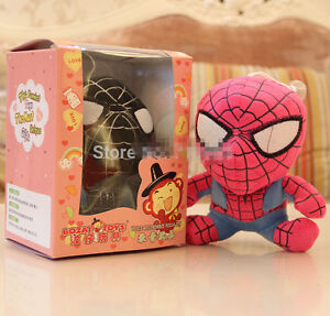 Spiderman 18cm Recording doll Cute Characters plush Birthday Christmas Gift RED