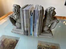 Vintage Lions Book Ends Bookends © 1992 Hpi With Label