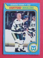1979-80 O-Pee-Chee OPC Gordie Howe # 175, Hartford Whalers, Near Mint