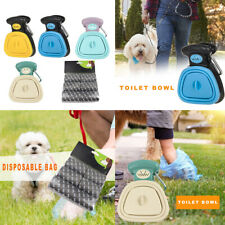 6rolls Trash Bags+Poop Picker Pet Dog Foldable Pooper Scooper Cleaning Supplies