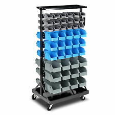 Giantz 90 Bins Storage Rack Warehouse Garage Tools Parts Shelving Wheels