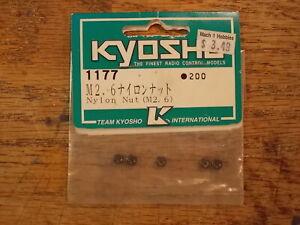 1177 Nylon Lock Nut (M2.6) 2.6mm - Kyosho Vintage Hardware