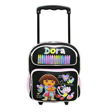 12IN Dora the Explorer Crayon Small Rolling Backpack #40995BK