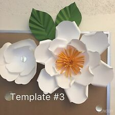 Hard Copy Paper Flower Template #3, DIY Paper Flower Backdrops