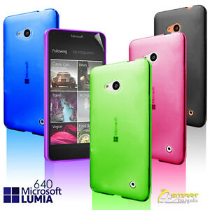 Matte Gel Case Cover For Microsoft Nokia Lumia 640 Frosted TPU Jelly Soft + ScGd
