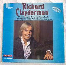 """33T Richard CLAYDERMAN Disque LP 12"""" FLEURS SAUVAGES -IMPACT N°1 6886910F Rèduit"""