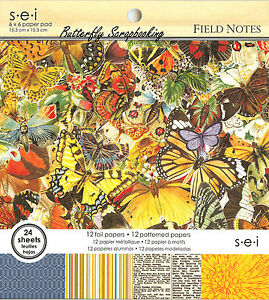 Field Notes Scrapbooking Paper Pad 6x6 Scrapbooking 24 Sheets SEI NEW
