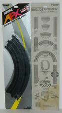 "Tomy Aurora AFX Slot Car 9"" (1/4) Curved Track 10 Pair New Sealed"