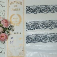 """NOS Bolt 66 Yards YDS White Lace Fabric Stretchy Trim Roll Sewing 3/"""" 2.75/"""""""